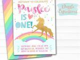 Free Printable Rainbow Unicorn Birthday Invitations Printable Rainbow Unicorn Birthday Invitation Watercolor