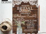 Free Printable Rustic Bridal Shower Invitation Templates Rustic Bridal Shower Invitation Printable Baby S Breath