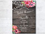 Free Printable Rustic Bridal Shower Invitation Templates Wedding Shower Invitation Templates