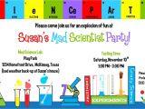 Free Printable Science Birthday Party Invitations Science Birthday Party Invitations