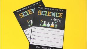 Free Printable Science Birthday Party Invitations Science Party Printables Birthday Parties