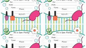 Free Printable Spa Party Invitations Templates Free Spa Party Invitation Template