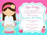 Free Printable Spa Party Invitations Templates Spa Party Invitation Spa Birthday Party Spa Invitation