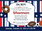 Free Printable Sports themed Baby Shower Invitations Sports themed Baby Shower Ideas