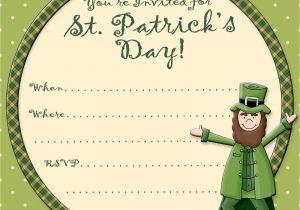 Free Printable St Patrick S Day Birthday Invitations Free Printable Party Invitations Free St Patrick S Day