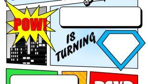 Free Printable Superhero Birthday Invitation Templates Make Your Own Comic Book Printable Superhero Comic Book