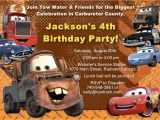 Free Printable tow Mater Birthday Invitations Cars Birthday Invitation Mater Invitations Disney Cars