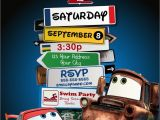 Free Printable tow Mater Birthday Invitations Disney Pixar Cars Lightning Mcqueen Mater Birthday Party