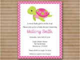 Free Printable Turtle Baby Shower Invitations Printable Sea Turtle Baby Shower Invitation by