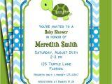 Free Printable Turtle Baby Shower Invitations Turtle Invitation Printable or Printed with Free Shipping