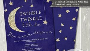 Free Printable Twinkle Twinkle Little Star Baby Shower Invitations Twinkle Twinkle Little Star Baby Shower Invitation Baby