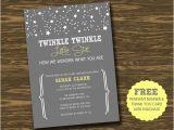 Free Printable Twinkle Twinkle Little Star Baby Shower Invitations Twinkle Twinkle Little Star Baby Shower Invitation by