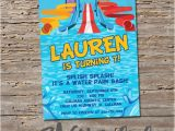 Free Printable Water Slide Party Invitations Water Slide Birthday Invitation Printable Diy