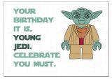 Free Printable Yoda Birthday Invitations Lego Star Wars Yoda Birthday Card by Designedbywink On