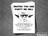 Free Printable Yoda Birthday Invitations Yoda Birthday Invitations Star Wars Darth Vader