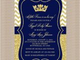 Free Royal Prince Baby Shower Invitation Template Prince Baby Shower Invitation Royal Blue Gold Baby Shower