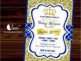 Free Royal Prince Baby Shower Invitation Template Royal Baby Shower Invitation Little Prince Baby Showerblue