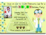 Free Science Birthday Party Invitation Templates Free Printable Mad Science Birthday Party Invitations