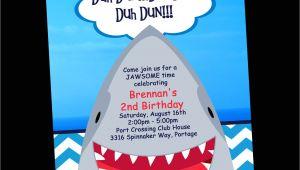 Free Shark Birthday Invitation Template Shark Birthday Invitation Printable Party Invite by