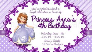 Free sofia the First Birthday Invitations 8 Best Of Free Printable Princess sofia Invitations