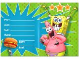Free Spongebob Party Invitation Templates Free Printable Spongebob Birthday Invitations Bagvania