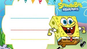 Free Spongebob Party Invitation Templates Free Spongebob Birthday Invitation Template Free