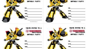 Free Transformer Birthday Invitations Transformers Birthday Invitations