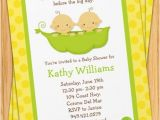 Free Two Peas In A Pod Baby Shower Invitations Twins Baby Shower Invitation Two Peas In A Pod
