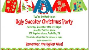 Free Ugly Sweater Party Invites Christmas Party Invitations Ugly Sweater