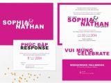 Free Vietnamese Wedding Invitation Template Modern Vietnamese Bilingual Wedding Invitation Party