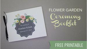 Free Wedding Invitation Templates 5.5 X 8.5 Free Wedding Program Template Download Print