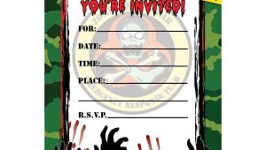 Free Zombie Party Invitation Template Zombie Hunter Fill In Invitations 16ct Zombie Birthday