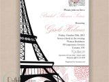 French Inspired Bridal Shower Invitations Paris Bridal Shower Invitation Printable 5×7 Eiffel