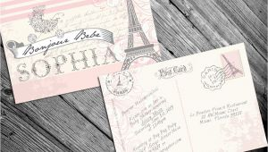 French themed Baby Shower Invitations Paris French themed Baby Shower Invitation by Mrsinvitation