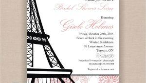 French themed Bridal Shower Invitations Paris Bridal Shower Invitation Printable 5×7 Eiffel
