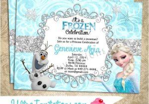 Frozen Birthday Party Invitations Printable Disney Frozen Olaf Elsa Birthday Invitations Printable