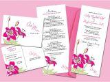 Full Wedding Invitation Sets sohl Design Stargazer Lily Wedding Invitation Set