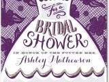 Fun Bridal Shower Invitations Dressed for Fun Signature White Bridal Shower