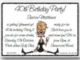 Funny 40th Birthday Party Invitation Wording Funny Birthday Party Invitation Wording