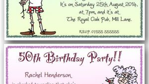 Funny 60th Birthday Party Invitations 40th 50th 60th 70th 80th 90th Personalised Birthday Party