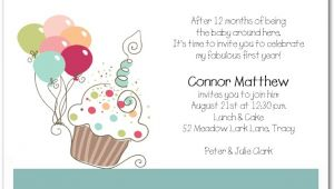 Funny Birthday Invitation Wording for Babies First Birthday Invitation Wording Bagvania Free