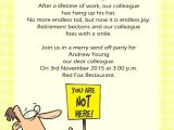 Funny Birthday Invitation Wording for Colleagues Farewell Invitation Wording Work Colleague
