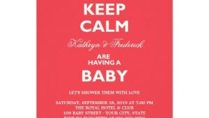 "Funny Couples Baby Shower Invitations Keep Calm Funny Couples Baby Shower Party Invite 4 5"" X 6"