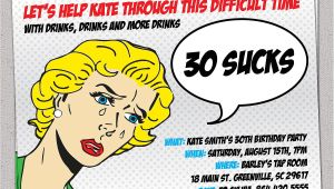 Funny Invitations for 30th Birthday Party Funny 30th Birthday Invitation Wording Dolanpedia