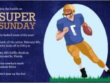 Funny Super Bowl Party Invitation Wording Football Invitations for Tailgates Superbowls Birthdays