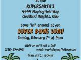 Funny Super Bowl Party Invitation Wording Super Bowl Football Luau Party Invitations Personalized