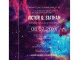 Galaxy Birthday Invitation Template Colorful Galaxy Bar Mitzvah Party Invite Zazzle Com