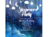 Galaxy Birthday Invitation Template Pancakes and Pajamas Sleepover Party Invitation Zazzle Com