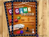 Game Night Party Invitations Game Night Invitation Game Party Invite Old School Games