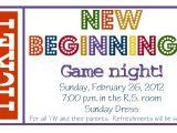 Game Night Party Invitations New Beginnings Game Nightburlap Denim